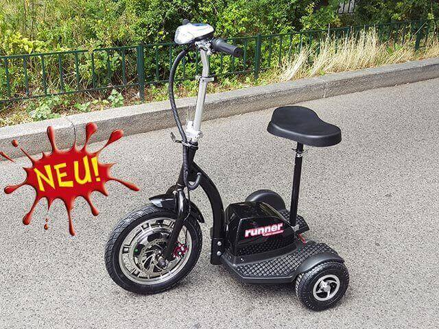 elektro scooter dreirad runner 500w 750w escooter shop. Black Bedroom Furniture Sets. Home Design Ideas