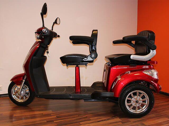 elektro dreirad tandem escooter shop. Black Bedroom Furniture Sets. Home Design Ideas