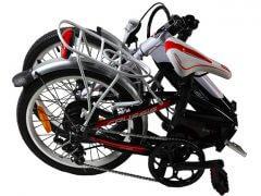 E-bike zusammengeklappt