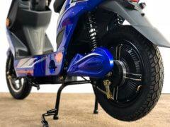E-Scooter Elektropower Volt blau HInterrad